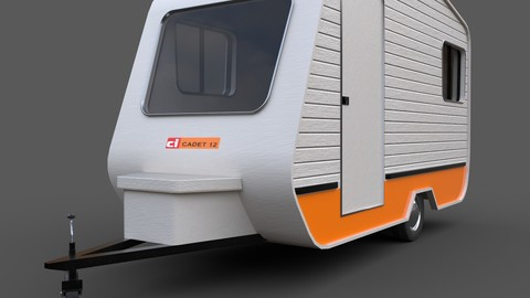 Caravan Trailer - PBR Low-poly