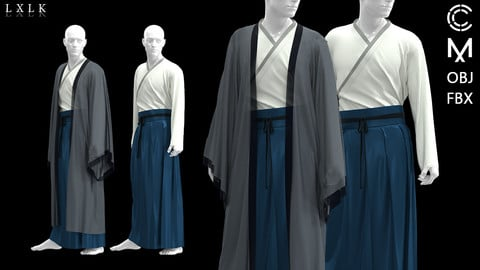 Men's Blue Hanfu_2 version