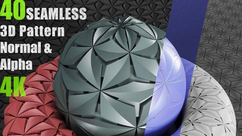 40 Seamless 3D Pattern (Collection No1)