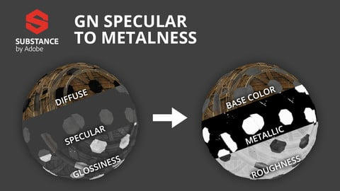 [Substance] GN Specular to Metalness