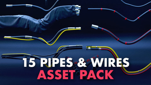 15-pipes and wires asset pack