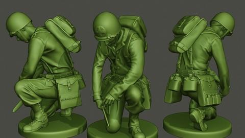 American soldier ww2 cutting A8