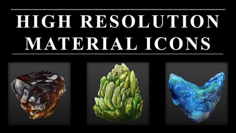 High Resolution Material Icons