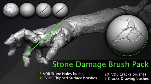 Stone Damage Brush Pack