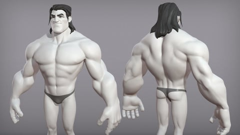Cartoon male character Sam base mesh