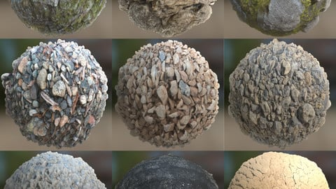 FREE | 11 High-Quality Material Textures | Including Normal Maps, Displacement Maps and Smoothness Maps | 2K & 4K