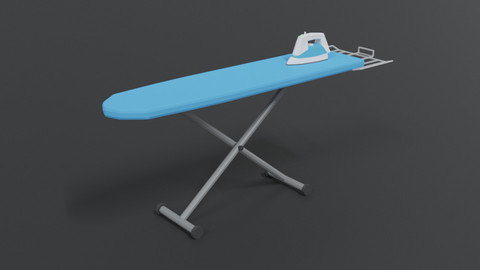 Low Poly Cartoon Ironing Board