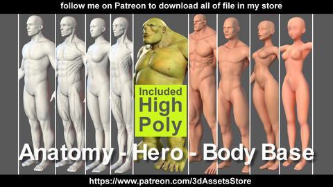 Character - Body Base & Anatomy & Hero Bundle