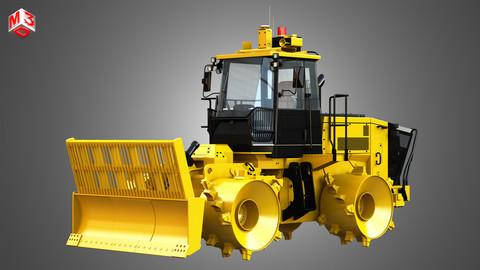 816K Landfill Compactor 3D model