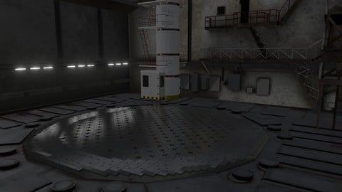 RBMK-1000 Nuclear Reactor, Central Hall, and Fuel Handling Machine 3D model.