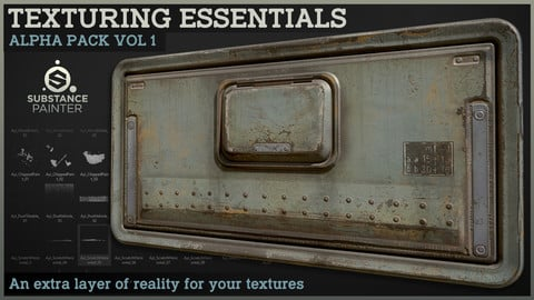 Texturing Essentials - Alpha pack Vol 1 for Substance Painter