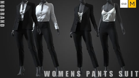Womens - Pants Suit Set