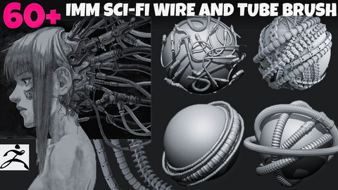 60+ Imm Sci-Fi wires and tubes mega brush pack