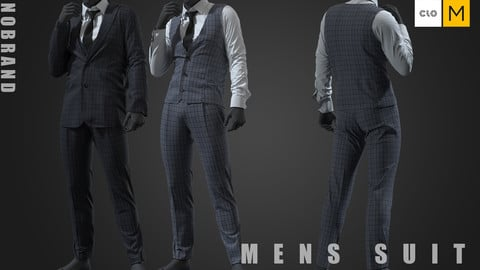 Mens - Check Suit Set