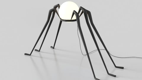 Spider floor lamp