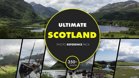 Ultimate Scotland photo reference pack - Highlands, seacoast, Loch Ness