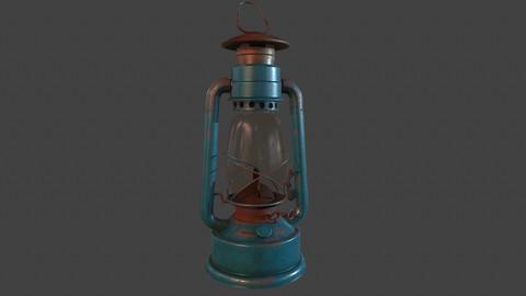 old  lantern lowpoly model