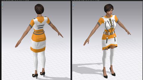 Imerium Space Uniform base for Marvelous Designer