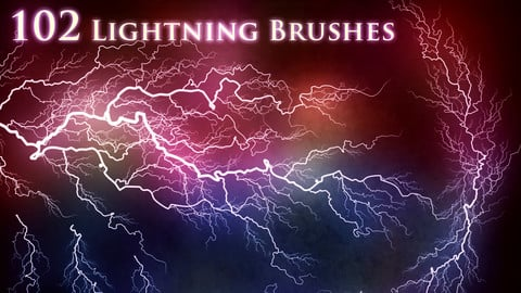 102 Lightning Electricity Brushes & PNGs