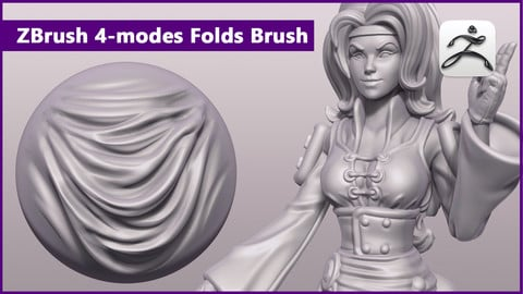 ZBrush 4-modes Folds Brush