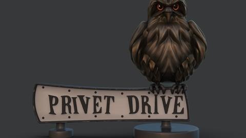 Privet drive sign 3D print model