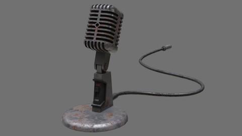 Retro Microphone 2B