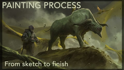 Painting Process - From Sketch to Finish -