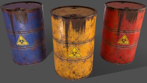 PBR Oil Drum Barrel A3 - Biohazard Toxic waste