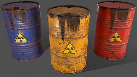 PBR Oil Drum Barrel A5 - Radioactive Radiation
