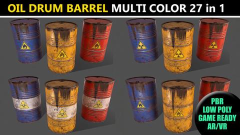 PBR Oil Drum Barrel - Multi Color Pack