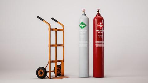 Trolley + Gas Cylinder - Single Asset