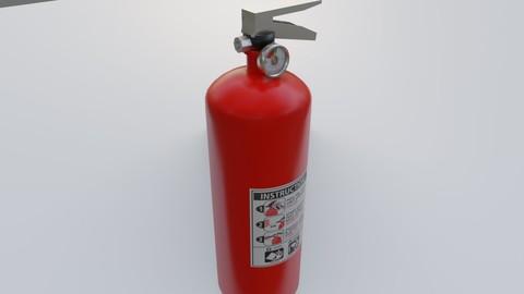 Fire Extinguisher - Extintor de incendio Low-poly 3D model