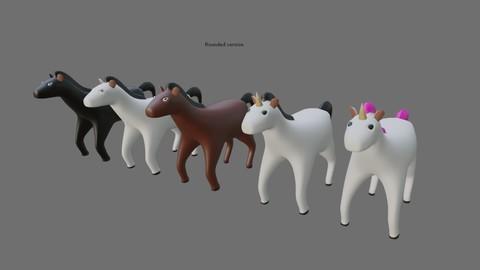 Horses and Unicorns - Cavalos e Unicornios 3D model