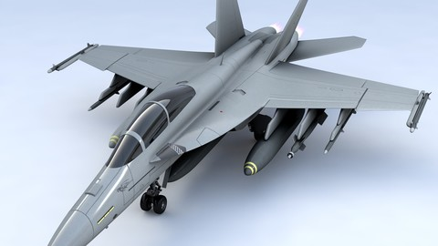 Boeing FA 18EF Super Hornet Block III 3D Model