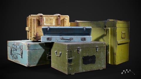 Military Supply Crates Bundle