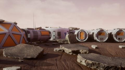 Mars Colony Scene