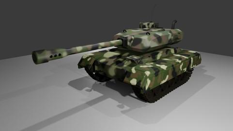 War Tank - Jungle Camouflage - Tanque de Guerra 3D model