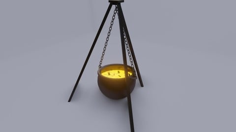 Cauldron - Caldeirao 3D model