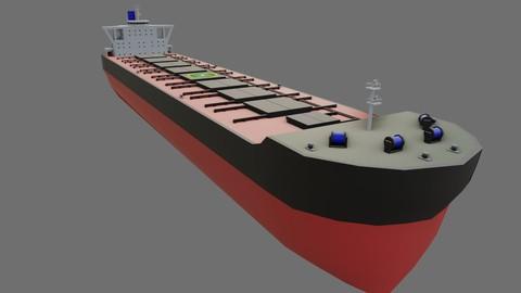Ship Bulk Carrier - Cargo - Navio Graneleiro Low-poly 3D model