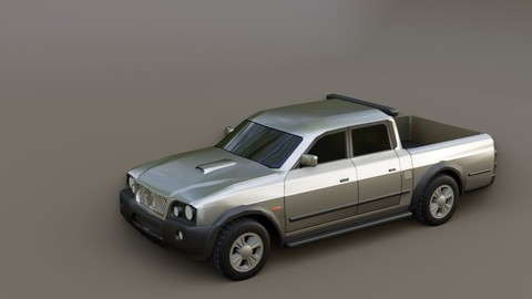 Pickup Truck - Car - Mitsubishi L200 Outdoor - Picape - Carro 3D model