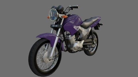 Motorcycle - Yamaha Factor YBR 125 - Moto 3D model