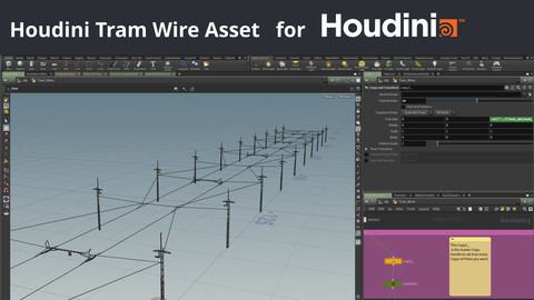 Houdini Tram Wire System for Houdini 17 and 18