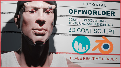 Offworlder Sculpting and Texturing in 3D Coat for Blender Eevee