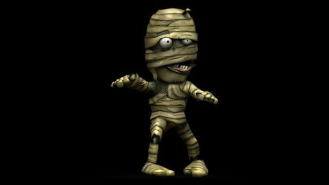 Mummy Animated and  Fully Rigged 3D Character