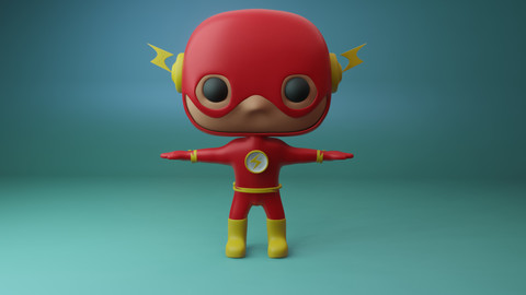 Funko flash 3D