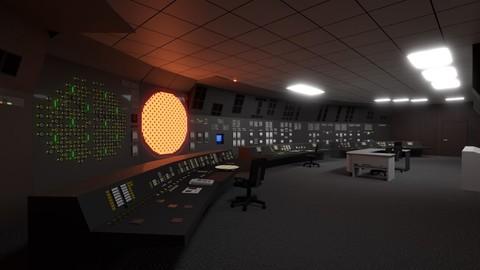 Chernobyl reactor control room 3D model