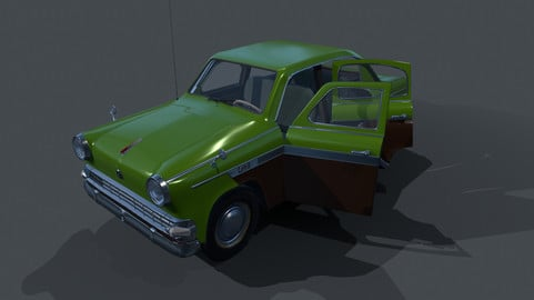 Moskvich-403 (Low poly, optimized)