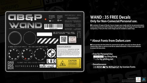 WAND : 35 FREE Sci-fi Decals