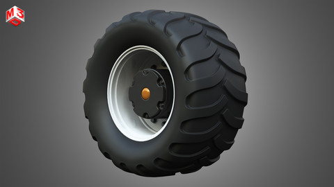 Farm Machine Tire 3D model