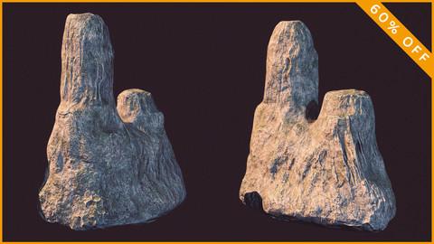 Elep Cliff / Rock / Low Polygon / PBR